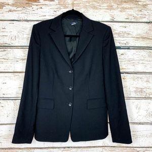 Size 12T J. Crew Black 100% Wool Career Blazer